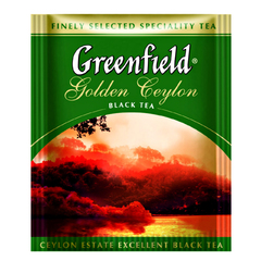Черный чай Greenfield Golden Ceylon 100 пакетов по 2 г