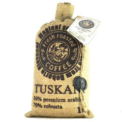 Кофе в зернах Tuskani 30% арабика 70% робуста 1 кг